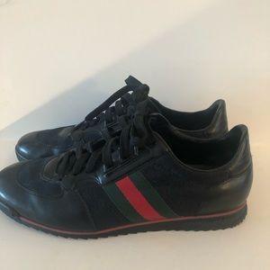 GUCCI Nappa Moorea SI 73 Sneaker Black Leather